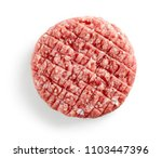 fresh raw burger meat isolated... | Shutterstock . vector #1103447396