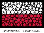 poland national flag mosaic... | Shutterstock .eps vector #1103448683