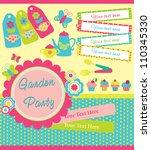 garden party cute collection.... | Shutterstock .eps vector #110345330