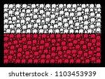 poland state flag mosaic... | Shutterstock .eps vector #1103453939