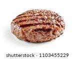 freshly grilled burger meat... | Shutterstock . vector #1103455229