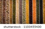 indian beans pulses lentils... | Shutterstock . vector #1103455430