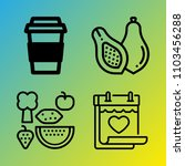 vegetarian vector icon set... | Shutterstock .eps vector #1103456288