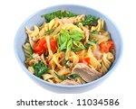 delicious tuna spinach and... | Shutterstock . vector #11034586