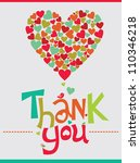Thank You Card Design. Vector...
