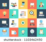 flat icons set of education   Shutterstock .eps vector #1103462450
