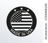 made in usa label. circle us... | Shutterstock . vector #1103468144