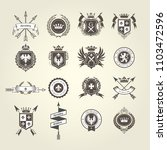 coat of arms collection  ... | Shutterstock .eps vector #1103472596