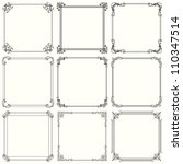 decorative frames  set 28  | Shutterstock .eps vector #110347514