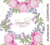 seamless pattern with peony ... | Shutterstock .eps vector #1103494190