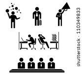 business management  working... | Shutterstock .eps vector #110349833