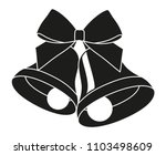 black and white two bells with... | Shutterstock .eps vector #1103498609