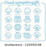 pure series   hand drawn cloud... | Shutterstock .eps vector #110350148