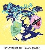 surf beach | Shutterstock .eps vector #110350364