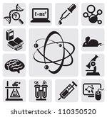 vector black science set on... | Shutterstock .eps vector #110350520