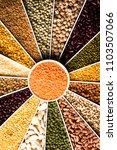 indian beans pulses lentils... | Shutterstock . vector #1103507066