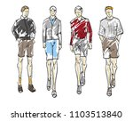 fashion man. set of fashionable ... | Shutterstock .eps vector #1103513840