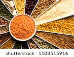 indian beans pulses lentils...   Shutterstock . vector #1103515916