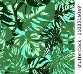 vector monstera leaves.... | Shutterstock .eps vector #1103516069