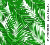 seamless pattern of palm leaves.... | Shutterstock .eps vector #1103516150