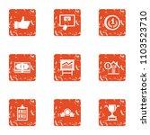 produce the shipment icons set. ... | Shutterstock .eps vector #1103523710