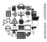 gaining knowledge icons set.... | Shutterstock .eps vector #1103523836