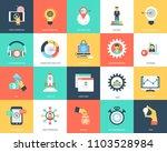 seo and marketing flat vector... | Shutterstock .eps vector #1103528984