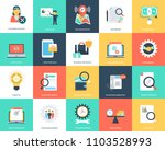 set of seo and marketing flat... | Shutterstock .eps vector #1103528993