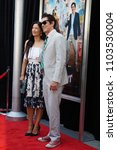 Small photo of LOS ANGELES, MAY 31ST, 2018: Actor Johnny Knoxville with his wife, Naomi Nelson, at the premiere of Action Point at the Arclight Theatre in Hollywood.