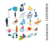 workforce icons set. isometric... | Shutterstock .eps vector #1103530814
