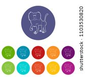 baboon icons color set vector... | Shutterstock .eps vector #1103530820