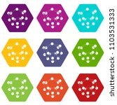 glucose icons 9 set coloful... | Shutterstock .eps vector #1103531333
