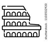 colosseum in rome    Shutterstock .eps vector #1103532920
