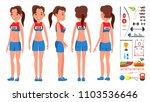 athletics girl player female... | Shutterstock .eps vector #1103536646