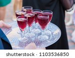 a tray with glasses  wedding... | Shutterstock . vector #1103536850
