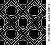 black and white geometric print.... | Shutterstock .eps vector #1103540846