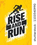 rise and run. marathon sport... | Shutterstock .eps vector #1103540990