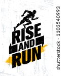 rise and run. marathon sport... | Shutterstock .eps vector #1103540993