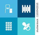 modern  simple vector icon set...   Shutterstock .eps vector #1103542010