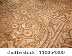 EPHESUS, TURKEY June 2008 Mosaic tiles on the floor which form a road in Ephesus Turkey June 26 2008.  Ephesus was an ancient Greek city and one of the largest cities in the Mediterranean world. - stock photo