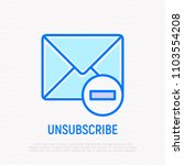 unsubscribe thin line icon ... | Shutterstock .eps vector #1103554208