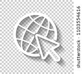 globe and arrow icon. white... | Shutterstock .eps vector #1103554616