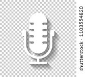 simple microphone icon. white...