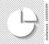 business pie chart icon. white...