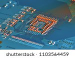 electronic circuit board close... | Shutterstock . vector #1103564459