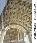 under the arch of triumph  arc... | Shutterstock . vector #1103565626