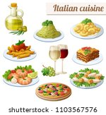 set of food icons isolated on... | Shutterstock . vector #1103567576
