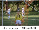 goalie watching the action from ...   Shutterstock . vector #1103568380