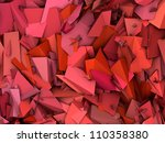 3d abstract fragmented pattern... | Shutterstock . vector #110358380