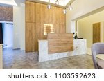 Stock photo reception desk hotel reception interior 1103592623